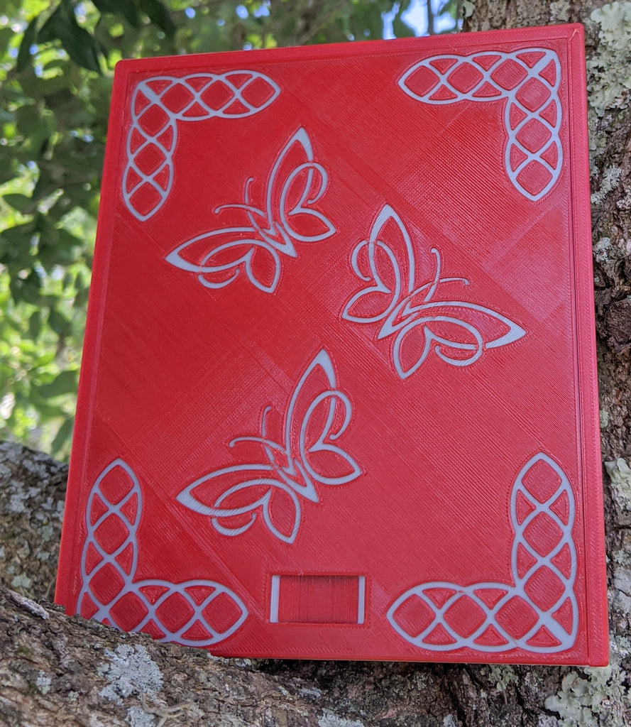 3D printed Notions Box--Knotwork Butterfly