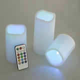 3Pcs Decorative Flameless Candle LED Light With Remote