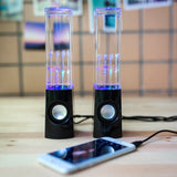 2 PCS LED Light Dancing Water Music Fountain Light Speakers