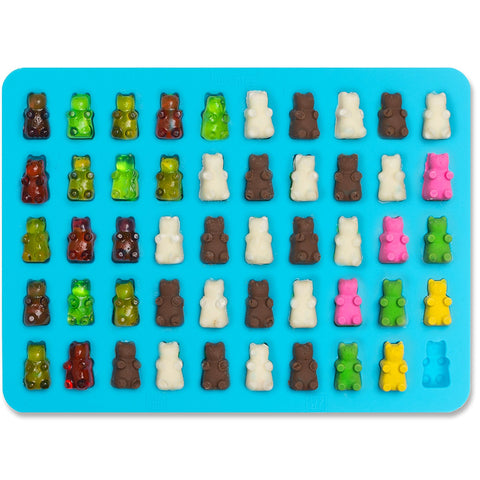 50 Cavity Gummy Bears Silicone Mold Tool