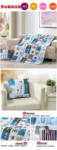 3 in 1 Back Cushion Throw Pillow and Blanket Quilt