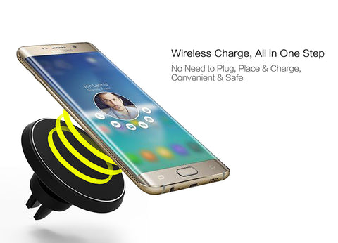 360 Degree Rotation Car Magnetic Wireless Charger For iPhone And Android