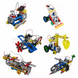 6 in 1 Solar Power Building Mechanical Educational DIY Block Toy