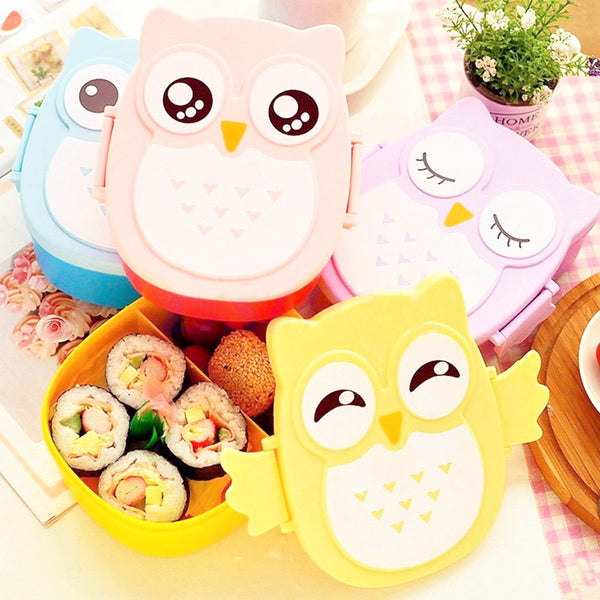 Owl Bento Lunch Box With Spoon