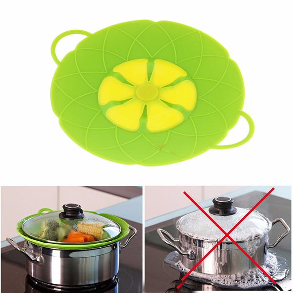 Flower Silicone Boil Over Spill Lid Stopper