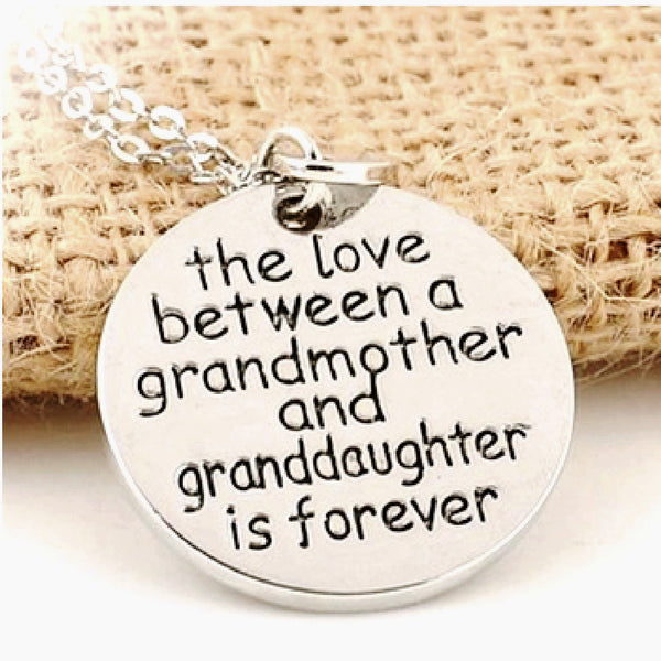 Love Between Grandmother And Granddaughter Necklace