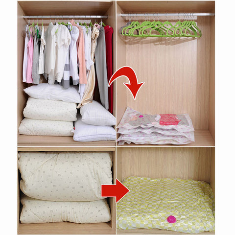 2 Pieces Clothes Space Saver Vacuum Bags Seal