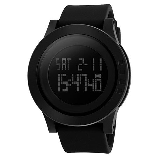 Men Military Sports Silicone Waterproof LED Digital Watch