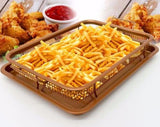 1PC Ceramic Copper Crisper Oil Filter Easy Grip Handles Frying Tray