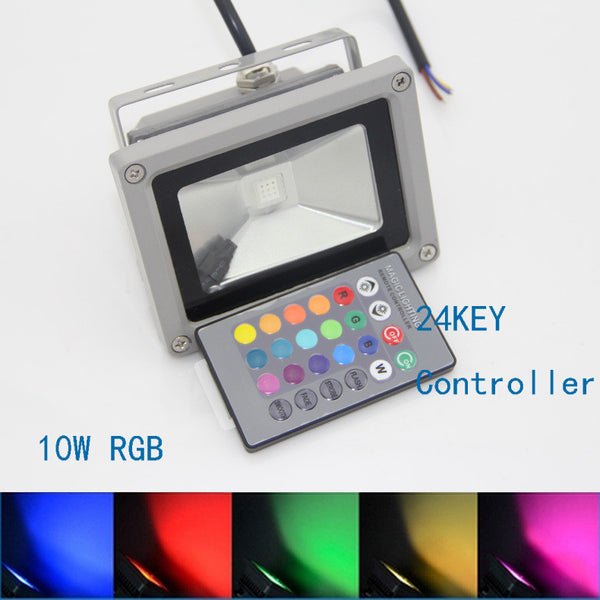 10W Waterproof LED RGB Spotlight Flood Light with Remote Control
