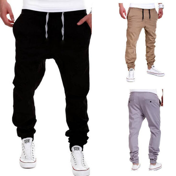 Men's Casual Drawstring Active Cross Long Collapse Pants