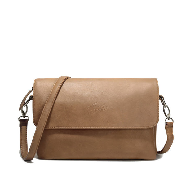 Classic Tan Leather Shoulder Bag