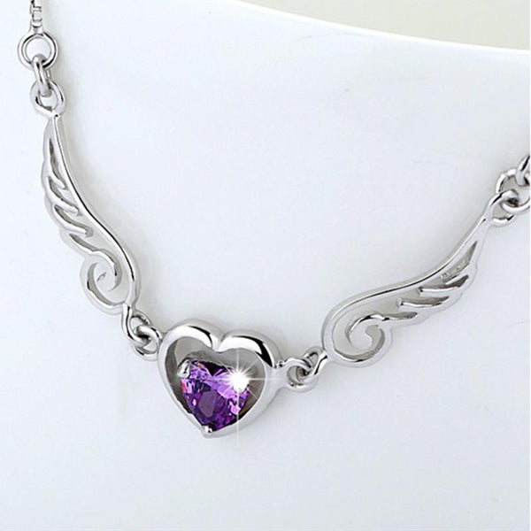 Angel Wings Of Love Heart Necklace