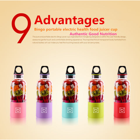 500mL Bingo Portable Juicer and Blender Bottle