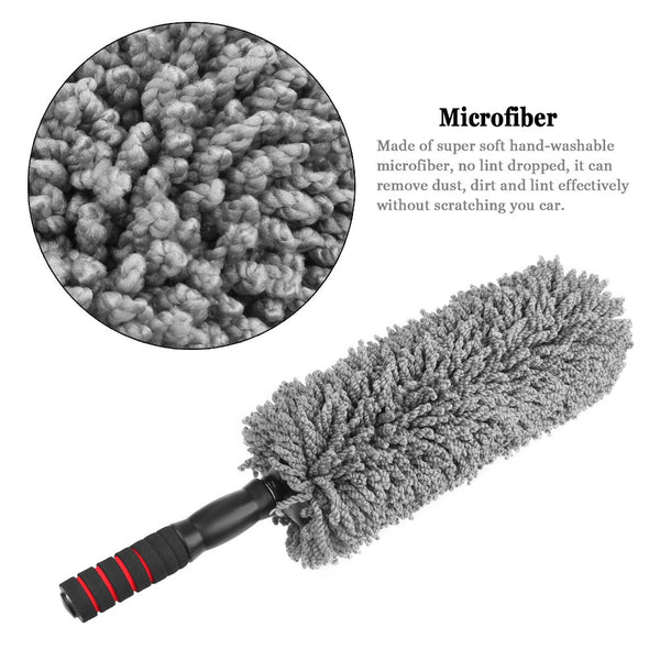 microfiber car duster auto brush with long extendable handle. Black Bedroom Furniture Sets. Home Design Ideas