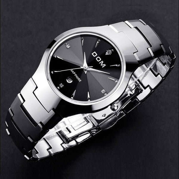 DOM Luxury Men And Women Invincible Unbreakable Tungsten Steel Watch