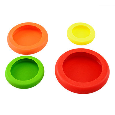 4 PCS Assorted Food Fruit Saver Silicone Hugger