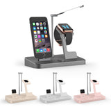 4 in 1  Power Charging Dock Crandle with Lamp for iPhone