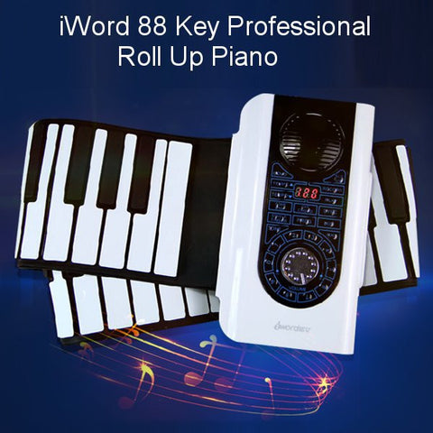 88 Key Professional Roll Up Piano With MIDI Keyboard