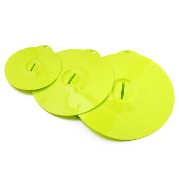 3 PCS Reusable Microwave Silicone Suction Bowl & Cup Cover Lid