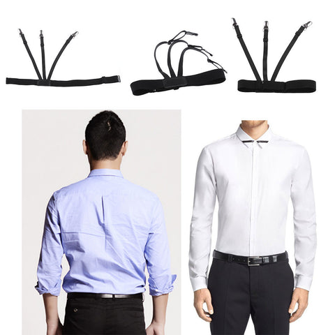 1 Pair Shirt Garter Tucked In All Day Strap Elastic Men Accessory