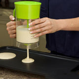 2in1 Electric Waffles Breakfast Pancake Mixer Batter Dispenser
