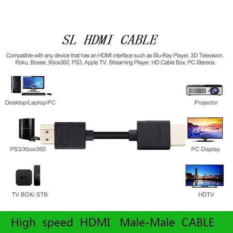 6 feet High-Speed HDMI Cable Supports 1080P 4K and Audio Return Channel
