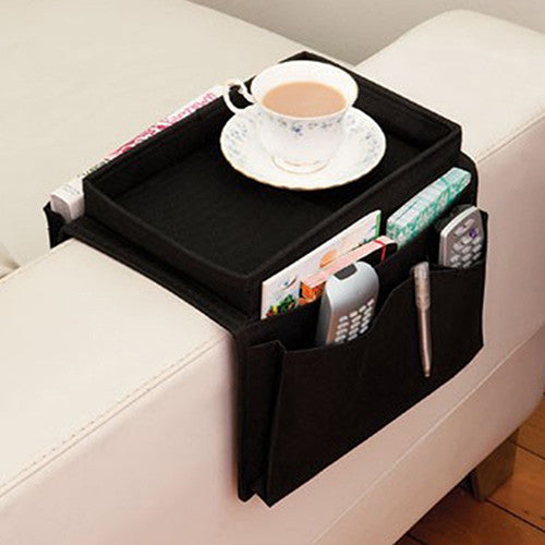 Arm Rest Chair Remote Control Table Top Holder Organizer