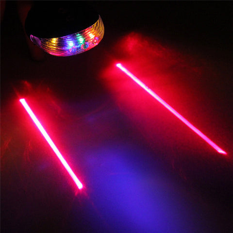 5 Colors 2 Lasers LED Night Mountain Bicycle Safety Rear Light