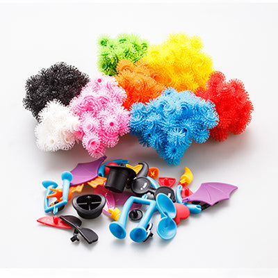 400pcs/Set DIY Assemble Puff Ball Squeezed Thorn Ball Clusters 3D Puzzle Toys
