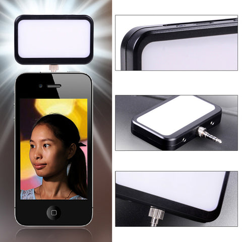 9 LEDs 4 Modes Photography Fill-in Light Built-in Battery for Smartphone