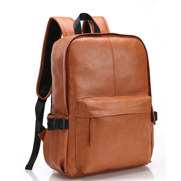 Oil Wax PU Leather Backpack For Men