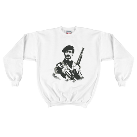 All Power to the People Iconic Button Crewneck Sweater
