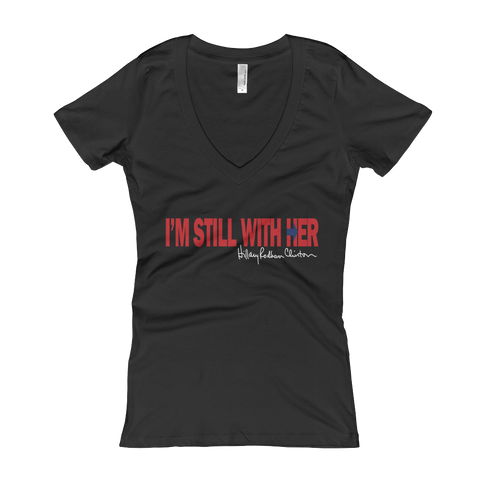 Hillary I'm Still With Her Women's V-Neck T-shirt