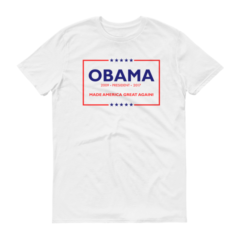 44th Made America Great Again Obama Short Sleeve T-Shirt