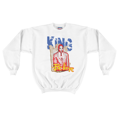 MLK King of Hope Iconic Button Sweatshirt