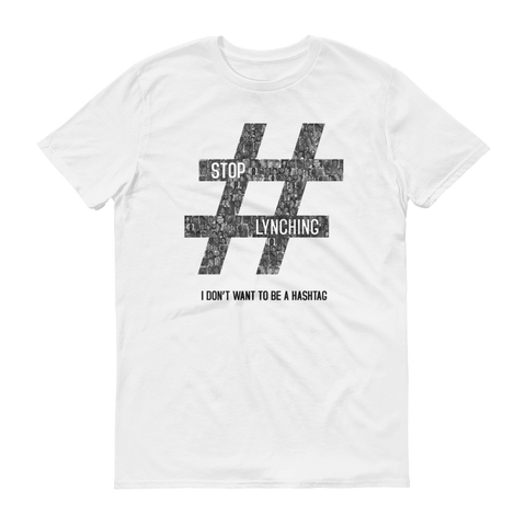 Hashtag Stop Lynching Iconic Button Short Sleeve T-Shirt