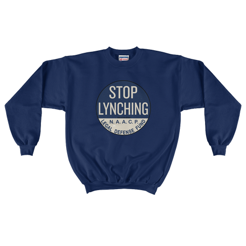 Stop Lynching LDF Iconic Button Mens Crewneck Sweater