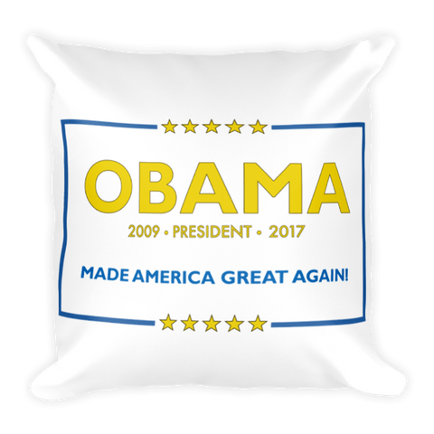 Made America Great Again Obama Pillow - Royal Blue & Yellow (NEW) - Made History Apparel™