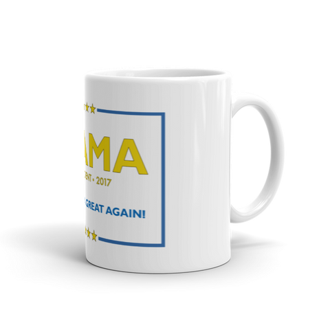 Made America Great Again Obama Coffee Mug - Blue & Yellow (NEW) - Made History Apparel™