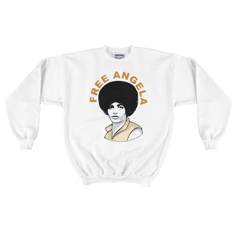 Free Angela Iconic Button Crewneck Sweater
