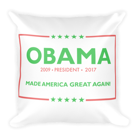 Made America Great Again Obama Pillow - Pink & Green (NEW) - Made History Apparel™
