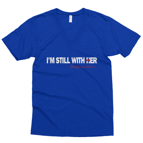 I'm Still With Her Hillary Signature Men's Short Sleeve V-Neck (NEW) - Made History Apparel™