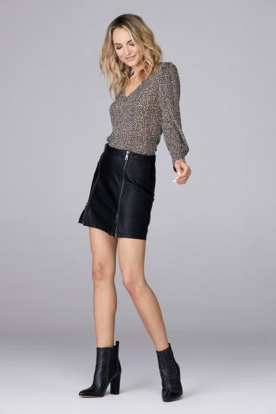 Double Zip Front Skirt