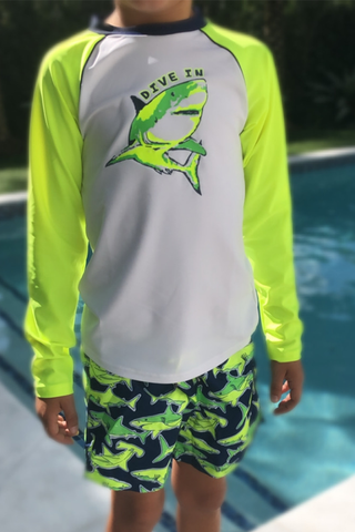Boy Long Sleeve Rash SHARK