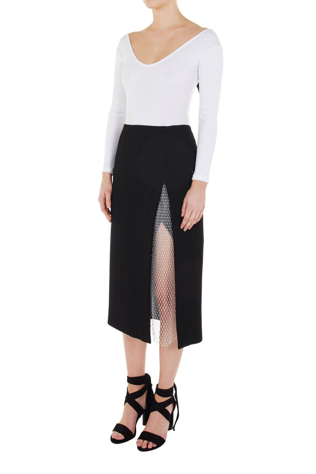 Contour Crystal Split Skirt