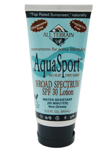 AquaSport SPF30 Sunscreen Lotion 3 oz