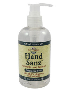 Hand Sanz - Fragrance Free 8 oz