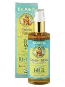 Calming Baby Oil Glass Bottle 4 fl oz