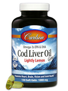 Cod Liver Oil Lightly Lemon 1000mg150gel